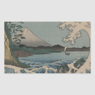 Fuji from the Sea off Satta Rectangular Sticker