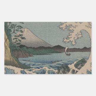 Fuji from the Sea off Satta Rectangular Sticker