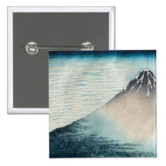 Fuji in Clear Weather' 2 Inch Square Button