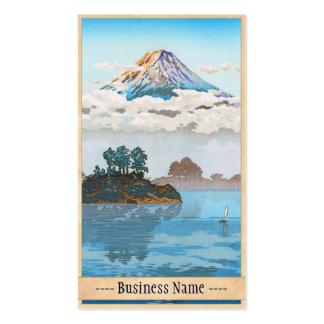 Fuji in clouds,  Koushu Lake Kawaguchi Japan Business Card
