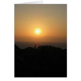 Fuji-san-sunset2-blank Card