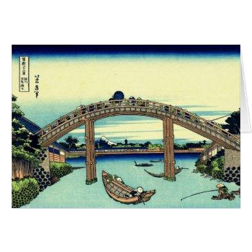 Beach Themed Fuji seen through the Mannen Bridge at Fukagawa Card