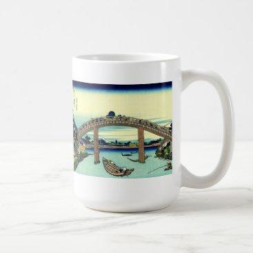 Beach Themed Fuji seen through the Mannen Bridge at Fukagawa Coffee Mug