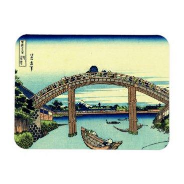 Beach Themed Fuji seen through the Mannen Bridge at Fukagawa Magnet