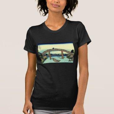 Beach Themed Fuji seen through the Mannen Bridge at Fukagawa T-Shirt