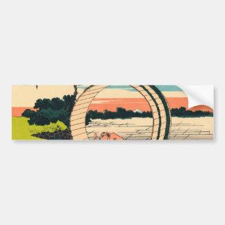 Fuji viewed from rice fields in Owari Province Bumper Sticker