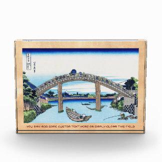 Fuji visto a través del puente de Mannen en Fukaga