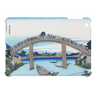 Fuji visto a través del puente de Mannen en Fukaga iPad Mini Carcasa