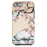 Fuji y Sakura - caso del iPhone 6 del diseño del Funda De iPhone 6 Tough