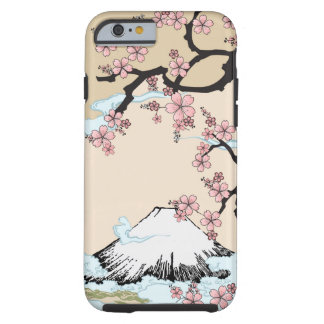 Fuji y Sakura - caso del iPhone 6 del diseño del Funda Resistente iPhone 6