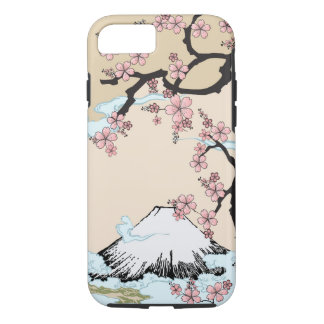 Fuji y Sakura - caso del iPhone 7 del diseño del Funda iPhone 7