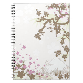 Fuji y Sakura - marrón Libreta