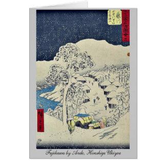 Fujikawa by Ando, Hiroshige Ukiyoe Stationery Note Card