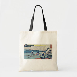 Fujikawa  by Katsushika, Hokusai Ukiyoe Tote Bag