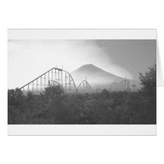 Fujiland (montaña sagrada (del espacio)) tarjeta de felicitación