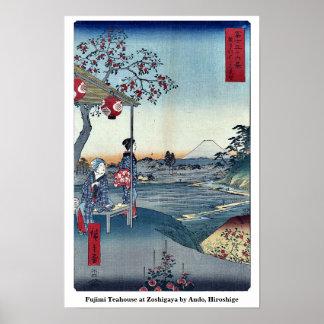 Fujimi Teahouse at Zoshigaya by Ando, Hiroshige Print