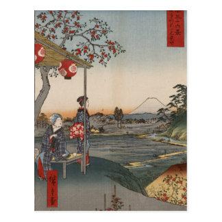 Fujimi Teahouse at Zoshigaya Postcard