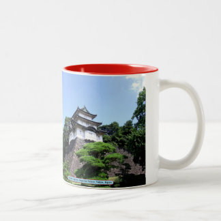 Fujimi-yagura, Imperial Palace, Tokyo, Japan Two-Tone Coffee Mug