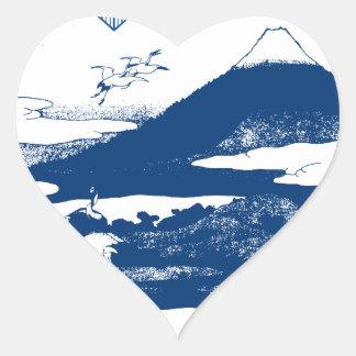 Fujisan Mount Fuji Heart Stickers