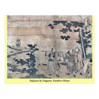 Fujisawa by Utagawa, Toyohiro Ukiyoe Postcard