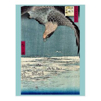 Fukagawa susaki jumantsubo by Ando, Hiroshige Postcard