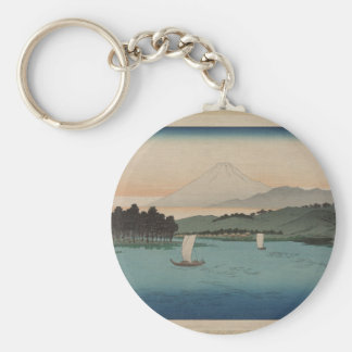 Fukeiga - 1850 Vintage Japanese Lithograph Keychain