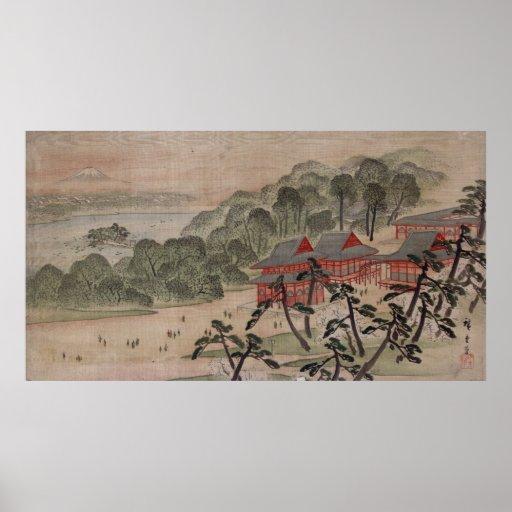 Fūkeiga - Ando Hiroshige Poster