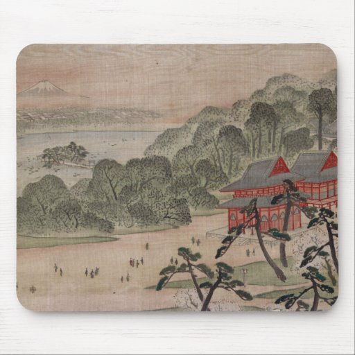 Fūkeiga - Ando Hiroshige Tapetes De Ratones
