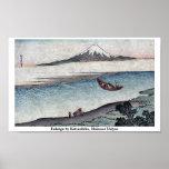Fukeiga by Katsushika, Hokusai Ukiyoe Poster