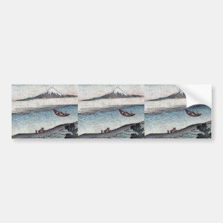 Fukeiga por Katsushika, Hokusai Ukiyoe Etiqueta De Parachoque
