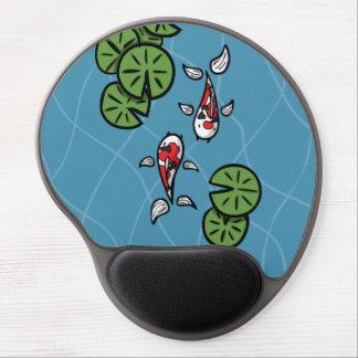 Fuku and Heiwa the Koi Gel Mousepad