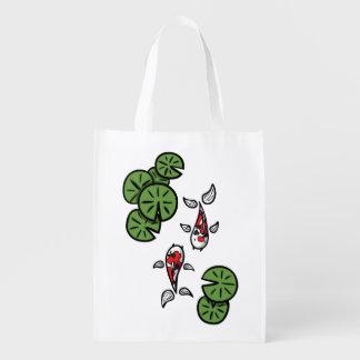 Fuku and Heiwa the Koi Reusable Grocery Bag