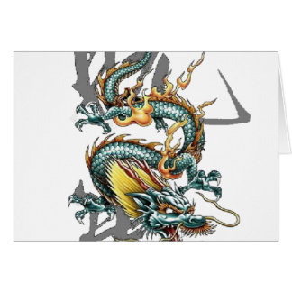 Fuku-Riu Japanese Dragon Greeting Card