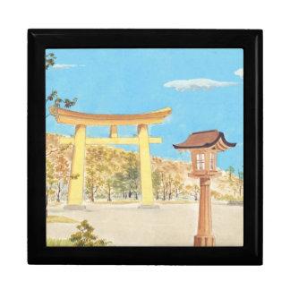 Fukuhara Shrine in Yamato Sacred Places scenery Trinket Box