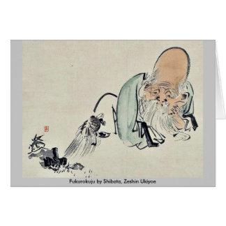Fukurokuju by Shibata, Zeshin Ukiyoe Greeting Card