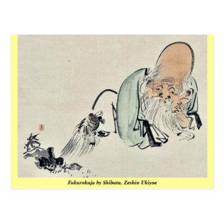 Fukurokuju by Shibata, Zeshin Ukiyoe Post Cards
