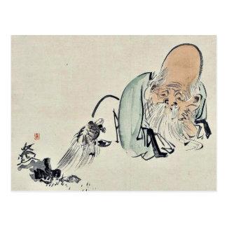 Fukurokuju by Shibata, Zeshin Ukiyoe Post Card