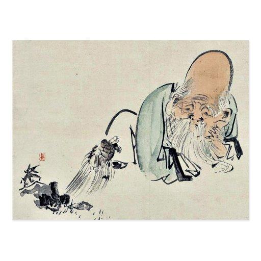 Fukurokuju by Shibata, Zeshin Ukiyoe Postcard