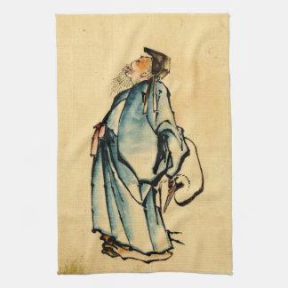 Fukurokuju God of Wisdom 1840 Hand Towel