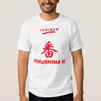 FUKUSHIMA50 ICHIBAN apoyan: ruegue para Japón Remeras