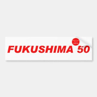 FUKUSHIMA50 ruegan para Japón Pegatina Para Auto