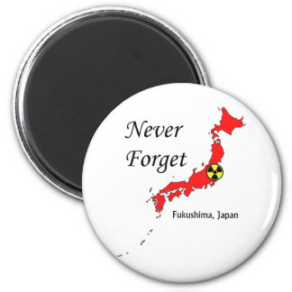 Fukushima, Japan Nuclear Disaster 2 Inch Round Magnet