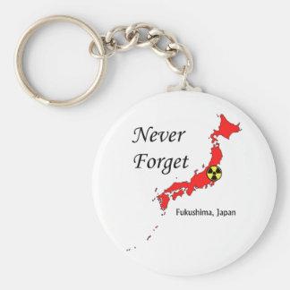 Fukushima, Japan Nuclear Disaster Basic Round Button Keychain