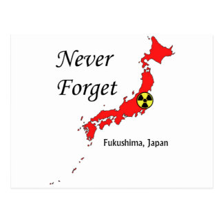 Fukushima, Japan Nuclear Disaster Postcard