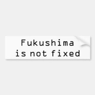 Fukushima no es fija pegatina para auto