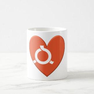 Fukushima Prefecture Flag Heart Mugs