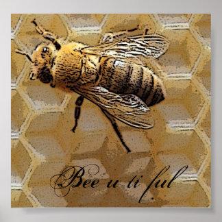 Ful del ti de la abeja u póster