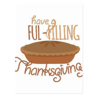 Ful-Filling Thanksgiving Postcard