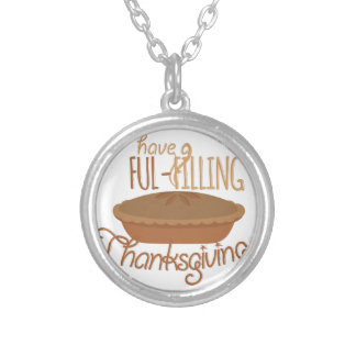 Ful-Filling Thanksgiving Silver Plated Necklace