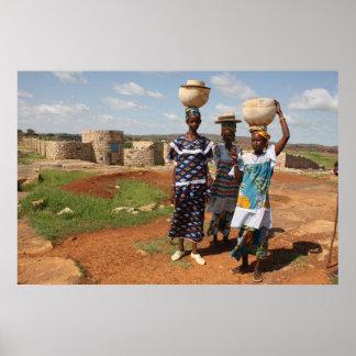 Fulbe Women in Mali, West Africa Poster